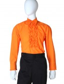 Orange Ruffled Tuxedo Shirt, halloween costume (Orange Ruffled Tuxedo Shirt)