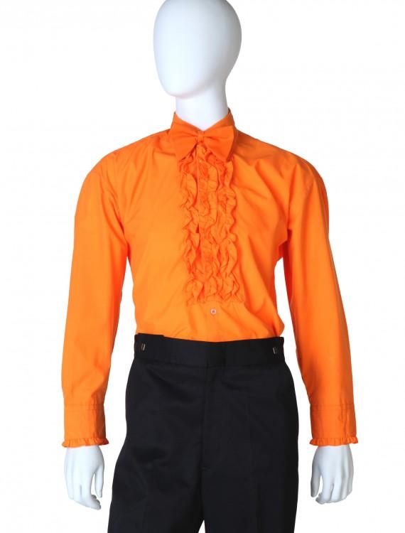 Orange Ruffled Tuxedo Shirt, halloween costume (Orange Ruffled Tuxedo Shirt)