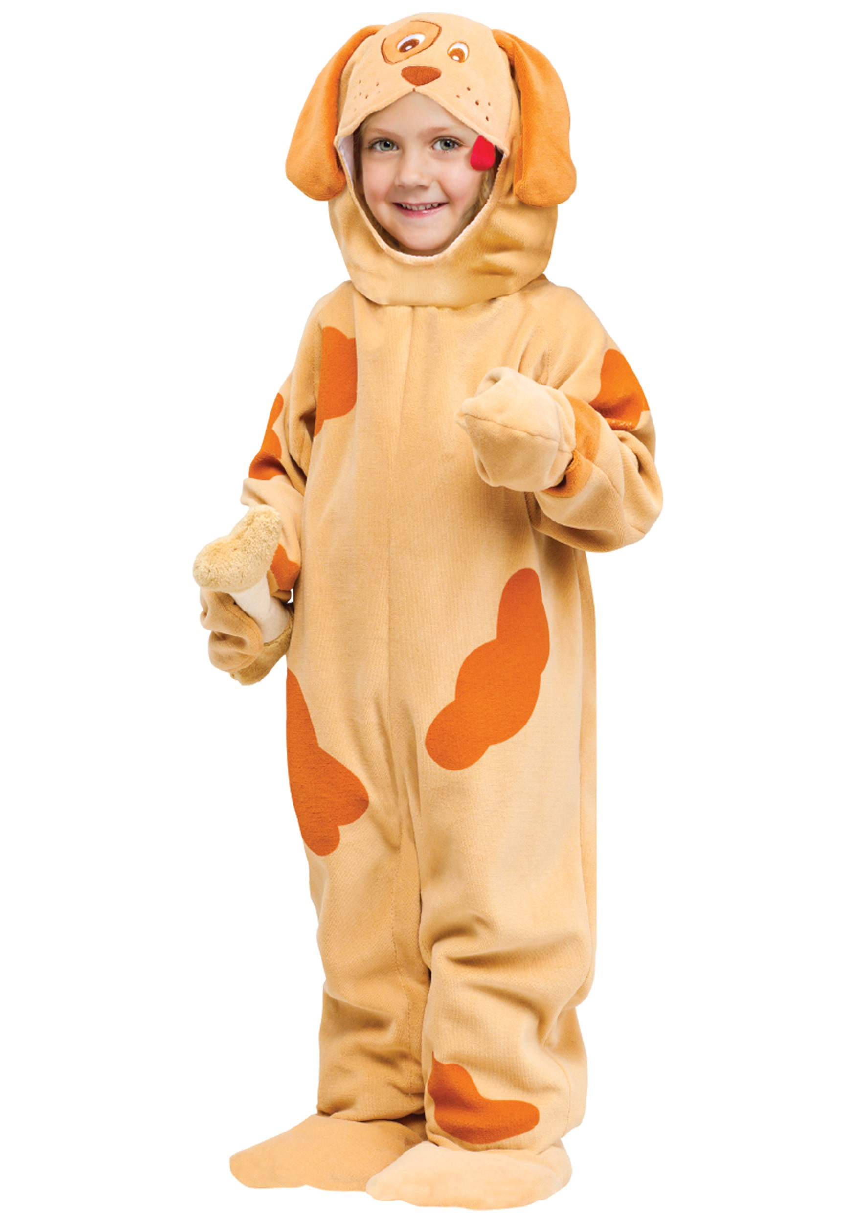 orange toddler puppy costume