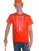 Orange Tuxedo Costume T-Shirt, halloween costume (Orange Tuxedo Costume T-Shirt)