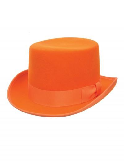 Orange Wool Top Hat, halloween costume (Orange Wool Top Hat)