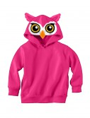 Owl Face Hooded Sweatshirt, halloween costume (Owl Face Hooded Sweatshirt)