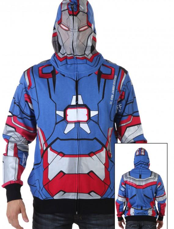 Patriot I Am Marvel Iron Man 3 Costume Hoodie, halloween costume (Patriot I Am Marvel Iron Man 3 Costume Hoodie)
