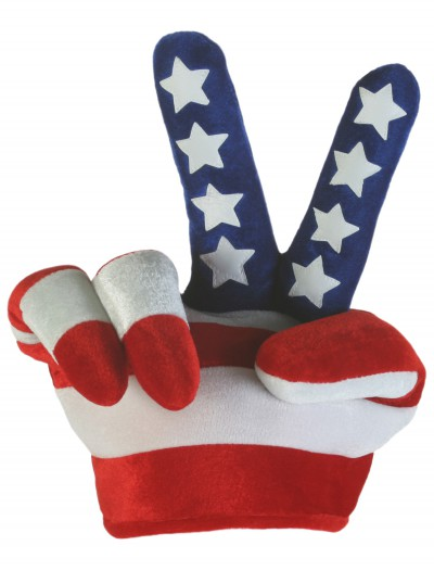 Peace Sign Flag Hat, halloween costume (Peace Sign Flag Hat)