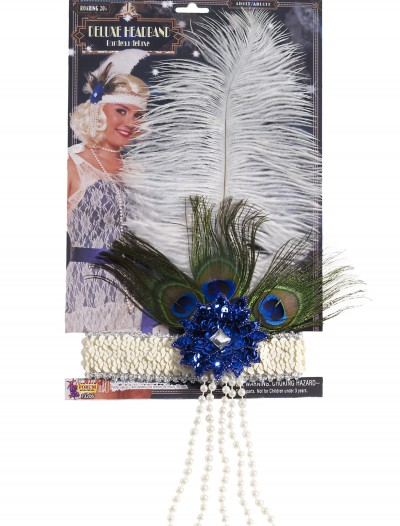 Peacock Flapper Headband, halloween costume (Peacock Flapper Headband)