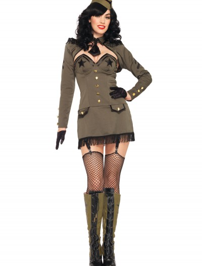 Pin Up Army Girl Costume, halloween costume (Pin Up Army Girl Costume)