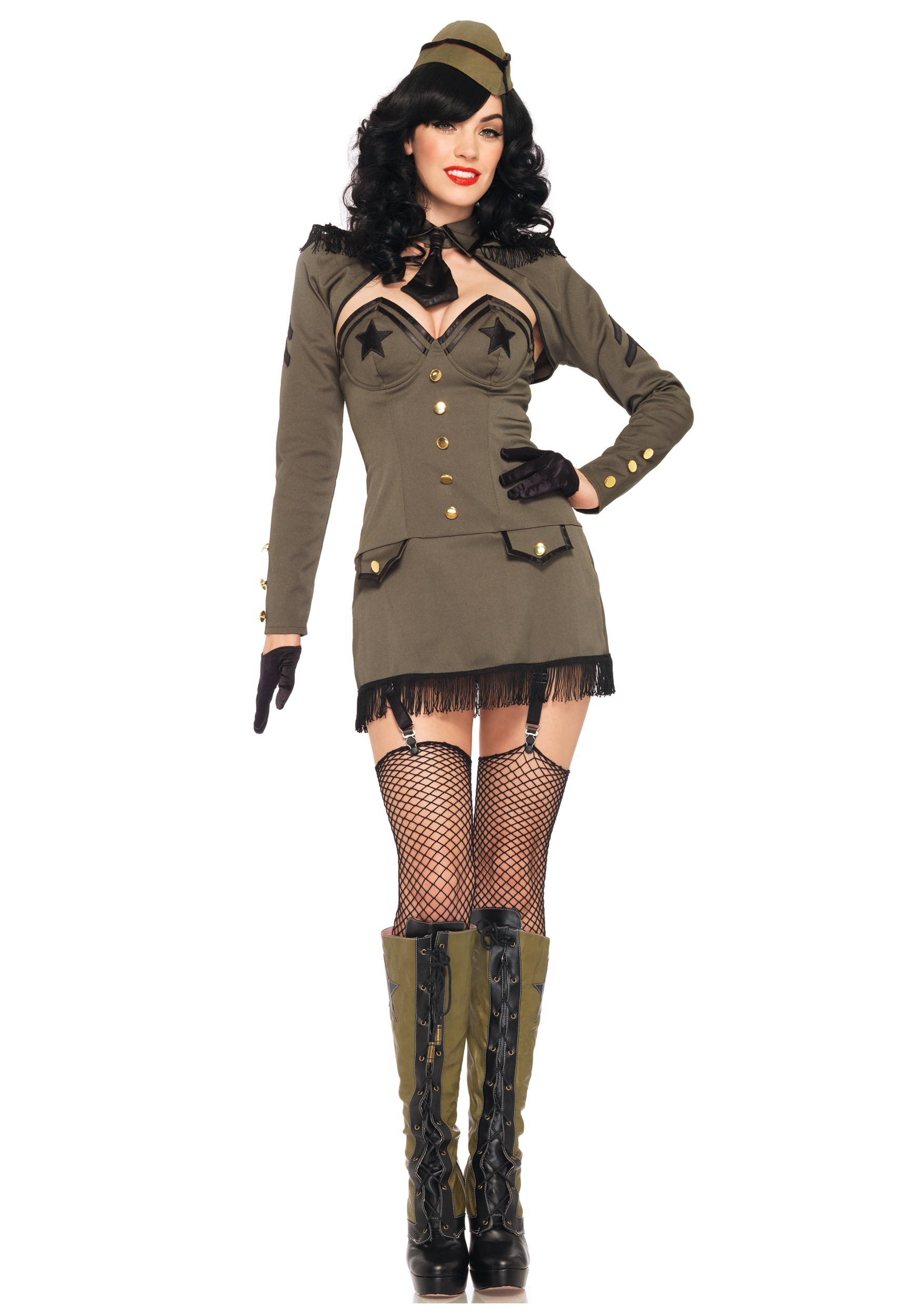 Pin Up Army Girl Costume  sc 1 st  Halloween Costumes & Pin Up Army Girl Costume - Halloween Costumes