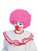 Pink Afro Clown Wig, halloween costume (Pink Afro Clown Wig)