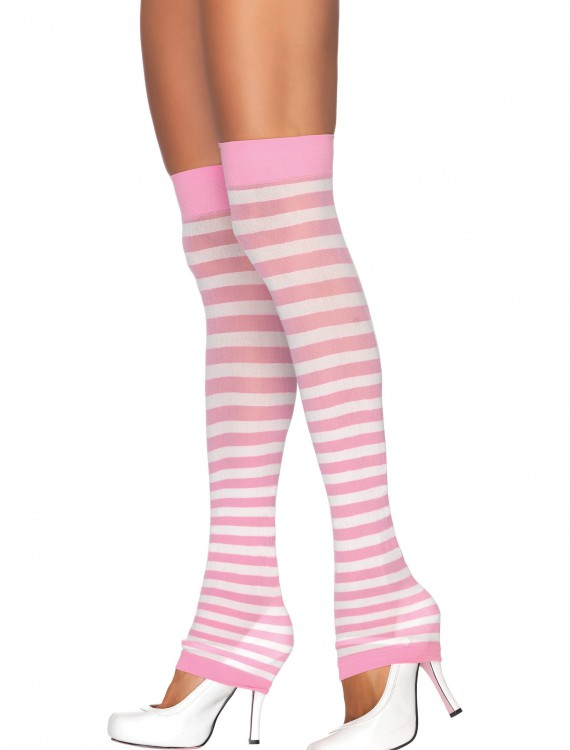 Pink and White Leg Warmers, halloween costume (Pink and White Leg Warmers)