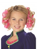 Pink Curly Hair Clips, halloween costume (Pink Curly Hair Clips)