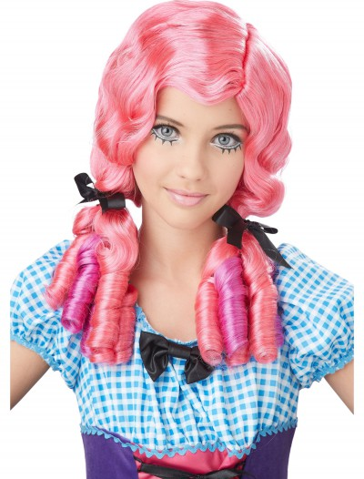 Pink Doll Curls Wig, halloween costume (Pink Doll Curls Wig)