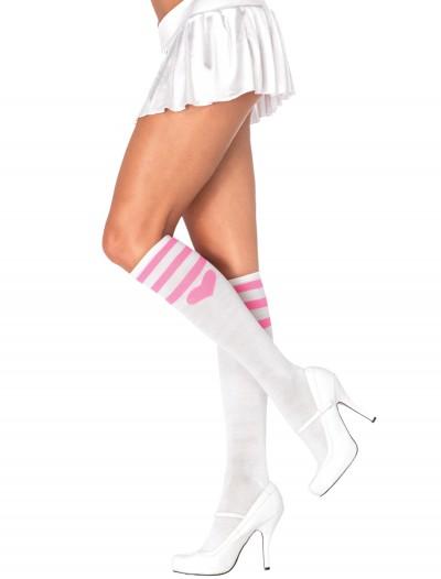 Pink Heart Socks White, halloween costume (Pink Heart Socks White)