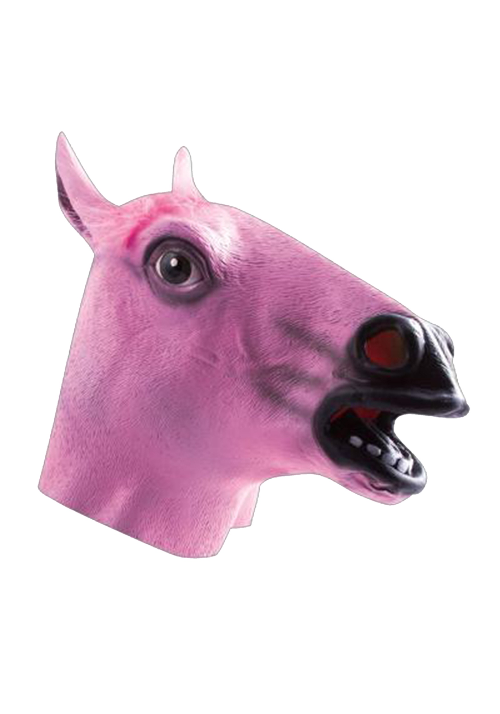 pink horse mask