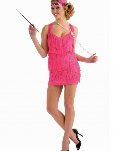 Pink Lindy Lace Flapper Costume, halloween costume (Pink Lindy Lace Flapper Costume)