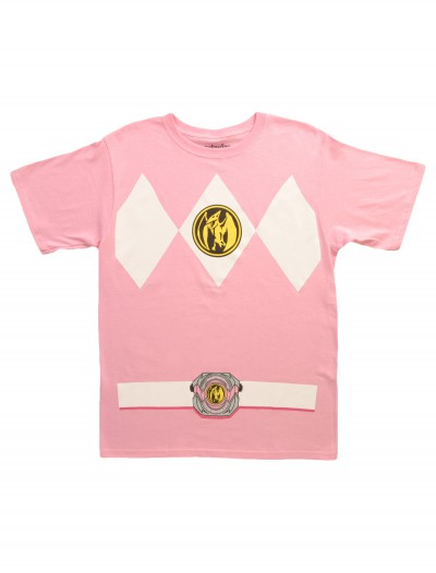 Pink Power Ranger T-Shirt, halloween costume (Pink Power Ranger T-Shirt)