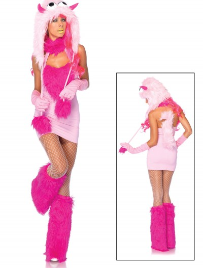 Pink Puff Monster Costume, halloween costume (Pink Puff Monster Costume)
