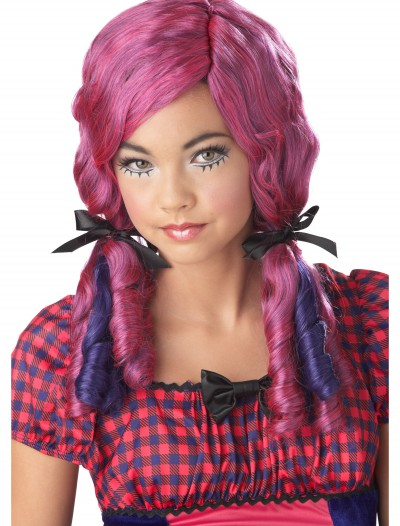 Pink / Purple Doll Curls Wig, halloween costume (Pink / Purple Doll Curls Wig)