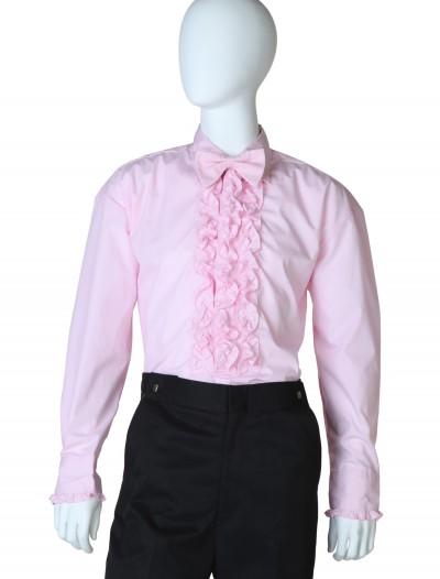 Pink Ruffled Tuxedo Shirt, halloween costume (Pink Ruffled Tuxedo Shirt)