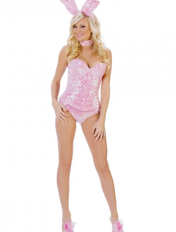 Pink Sequin Bunny Costume, halloween costume (Pink Sequin Bunny Costume)