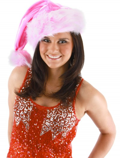 Pink Striped Santa Hat, halloween costume (Pink Striped Santa Hat)