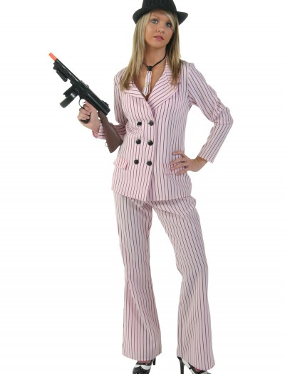 Pink Women's Gangster Costume, halloween costume (Pink Women's Gangster Costume)