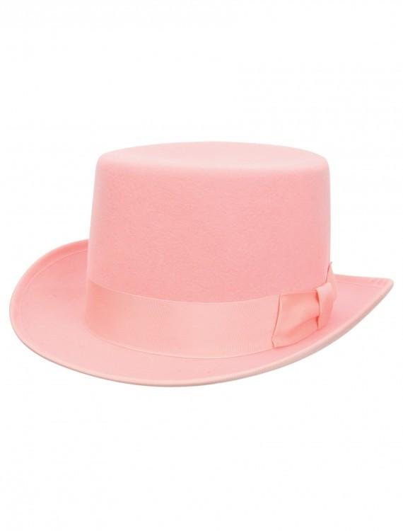 Pink Wool Top Hat, halloween costume (Pink Wool Top Hat)
