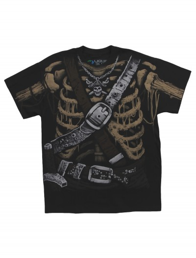 Pirate Bones Costume T-Shirt, halloween costume (Pirate Bones Costume T-Shirt)
