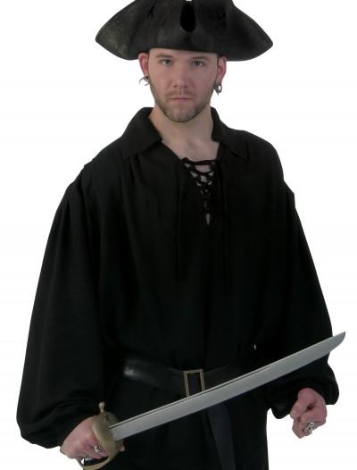 Black Pirate Shirt, halloween costume (Black Pirate Shirt)