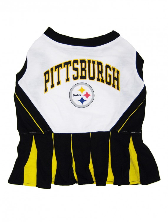Pittsburgh Steelers Dog Cheerleader Outfit, halloween costume (Pittsburgh Steelers Dog Cheerleader Outfit)