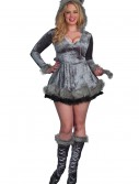 Plus Size Bad Sexy Wolf Costume, halloween costume (Plus Size Bad Sexy Wolf Costume)