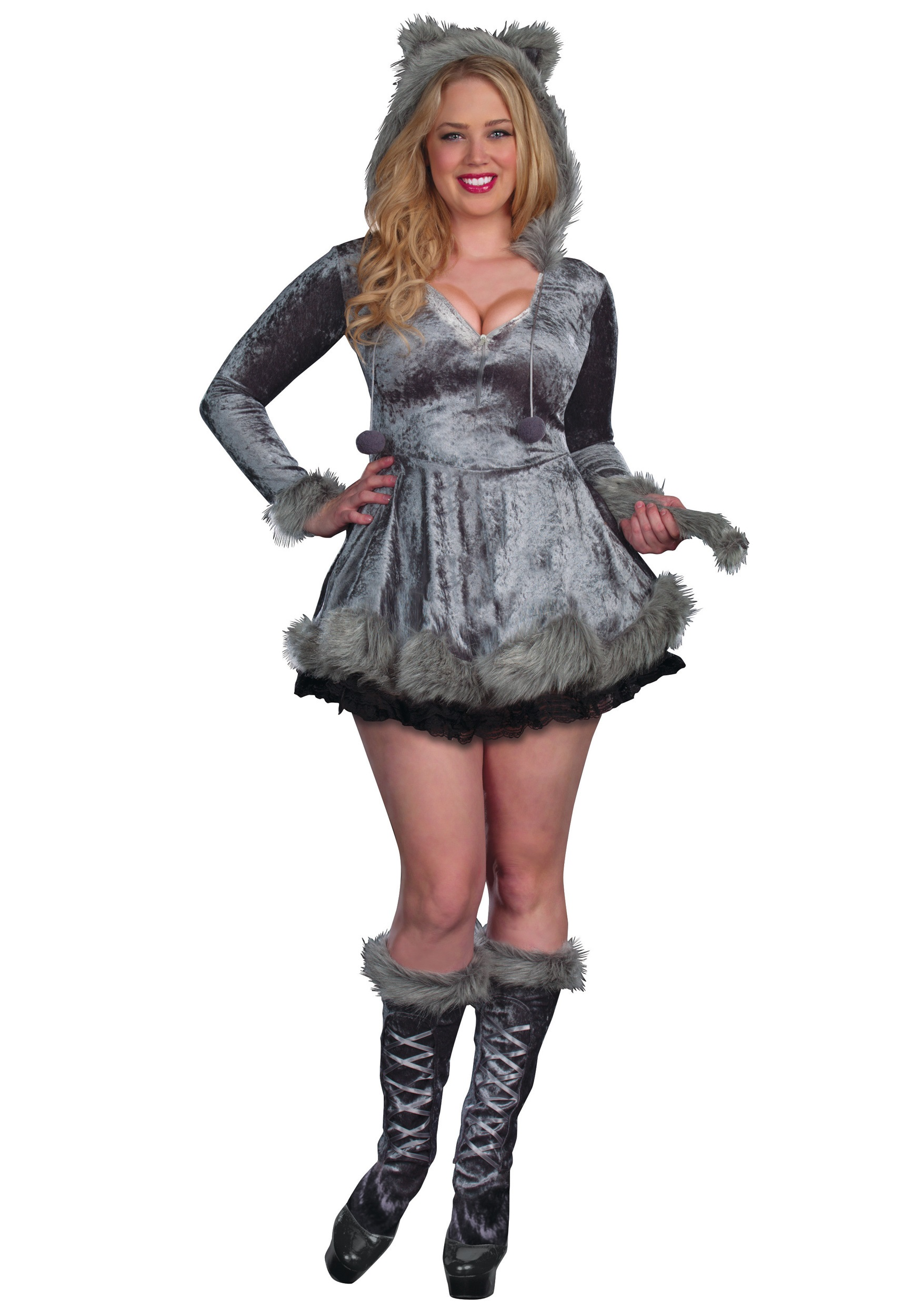 Plus Size Bad Sexy Wolf Costume Halloween Costumes