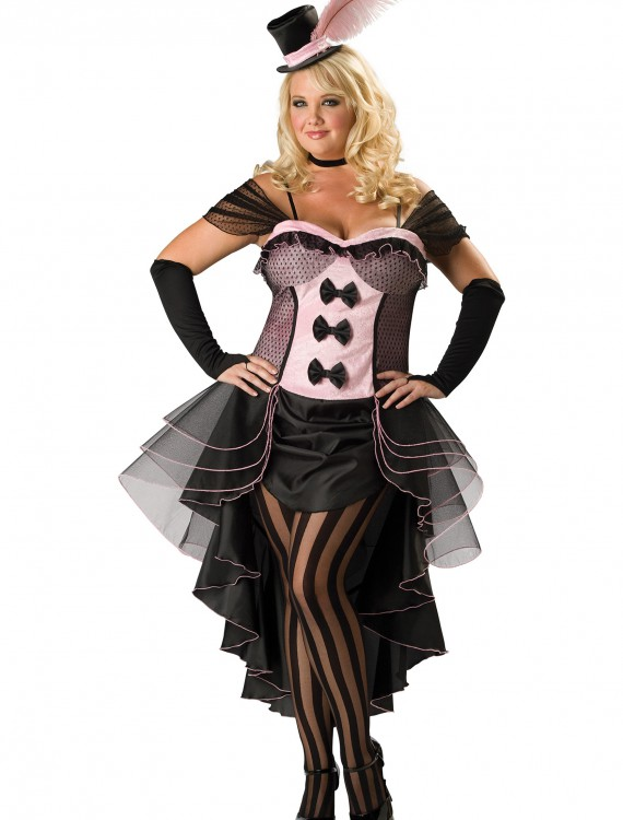Plus Burlesque Babe Costume, halloween costume (Plus Burlesque Babe Costume)