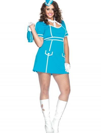 Plus Classy Flight Attendant Costume, halloween costume (Plus Classy Flight Attendant Costume)