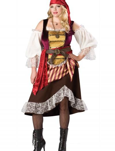 Plus Deckhand Darlin' Pirate Costume, halloween costume (Plus Deckhand Darlin' Pirate Costume)