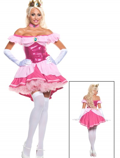 Plus Exclusive Sexy Sequin Pink Princess Costume, halloween costume (Plus Exclusive Sexy Sequin Pink Princess Costume)