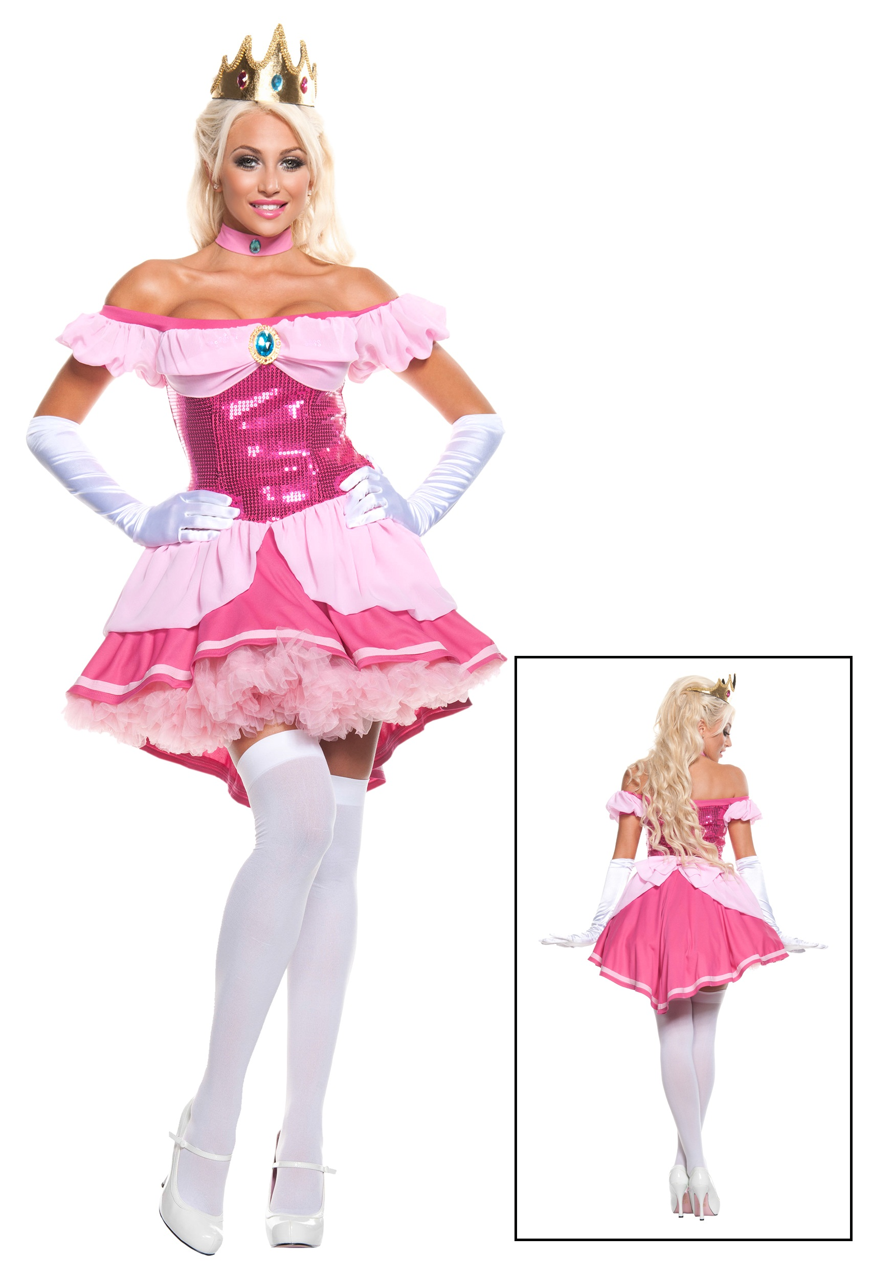 Plus Exclusive Sexy Sequin Pink Princess Costume  sc 1 st  Halloween Costumes & Plus Exclusive Sexy Sequin Pink Princess Costume - Halloween Costumes