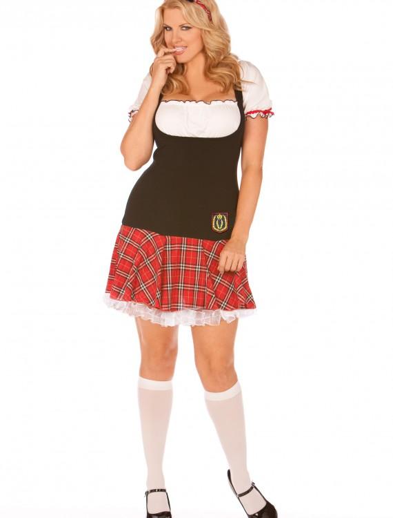 Plus Frisky School Girl Costume, halloween costume (Plus Frisky School Girl Costume)