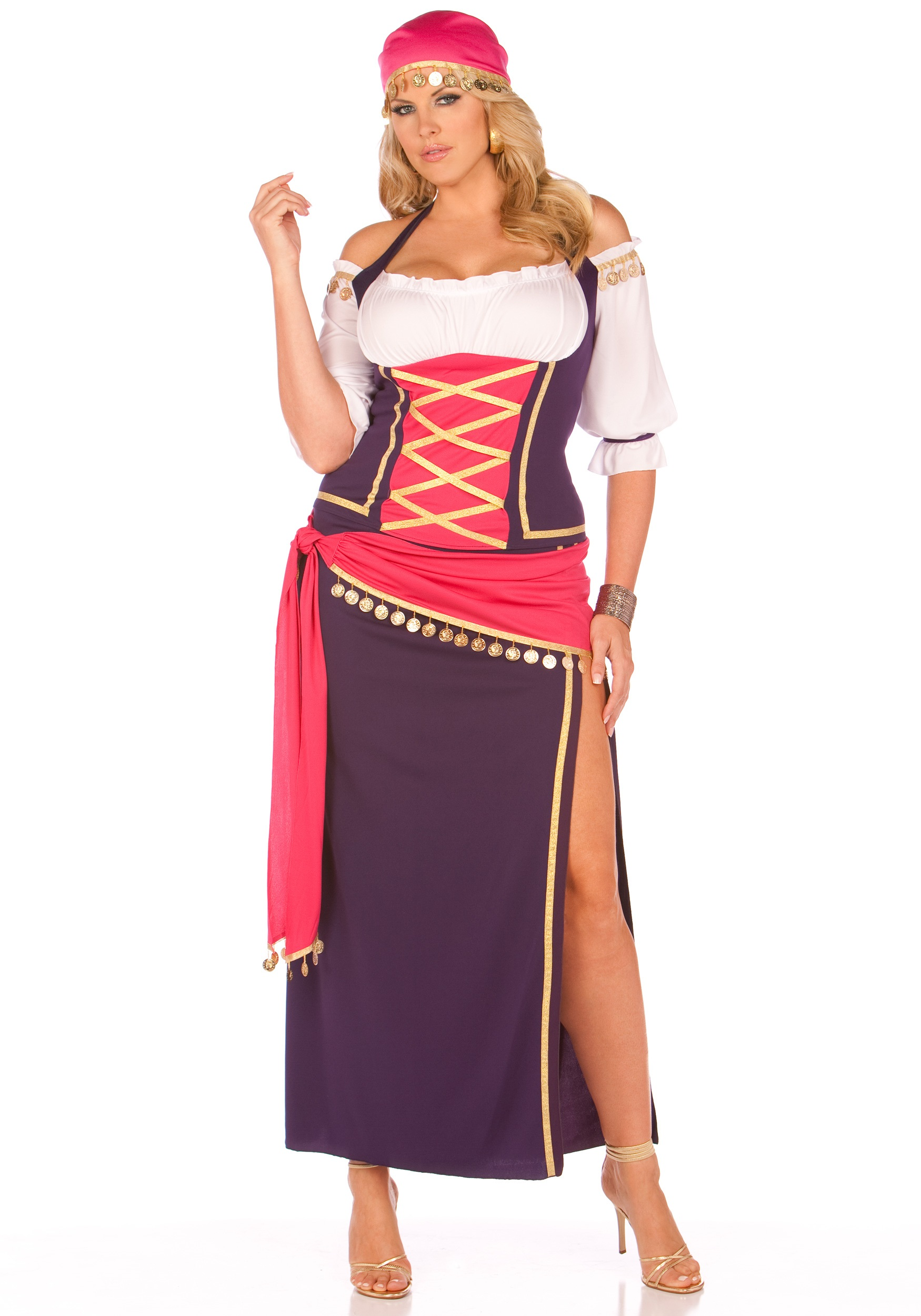 plus gypsy maiden costume - halloween costumes
