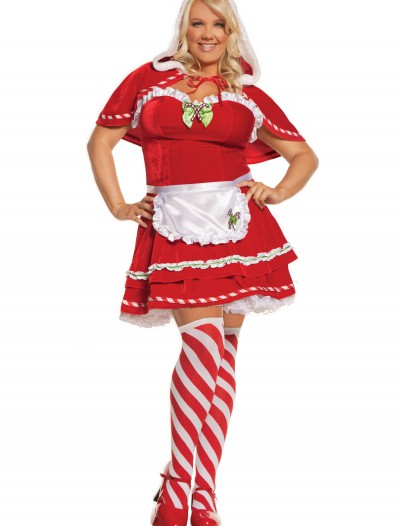 Plus Miss Candy Cane Costume, halloween costume (Plus Miss Candy Cane Costume)