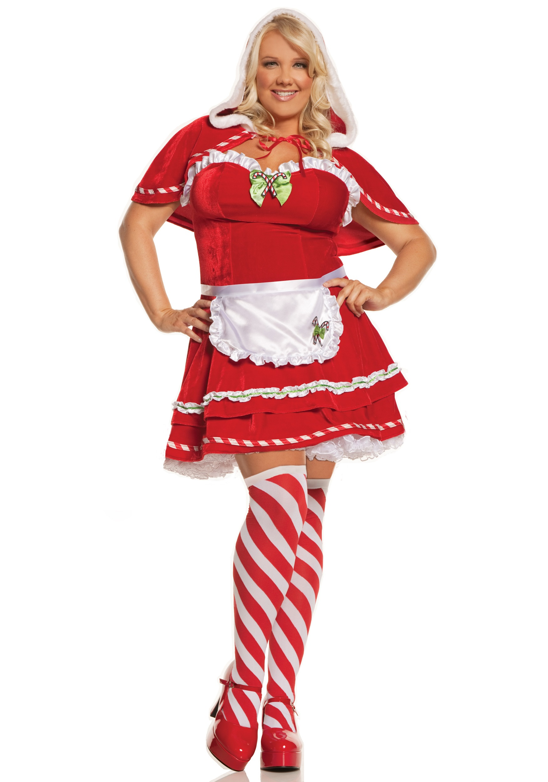 plus miss candy cane costume
