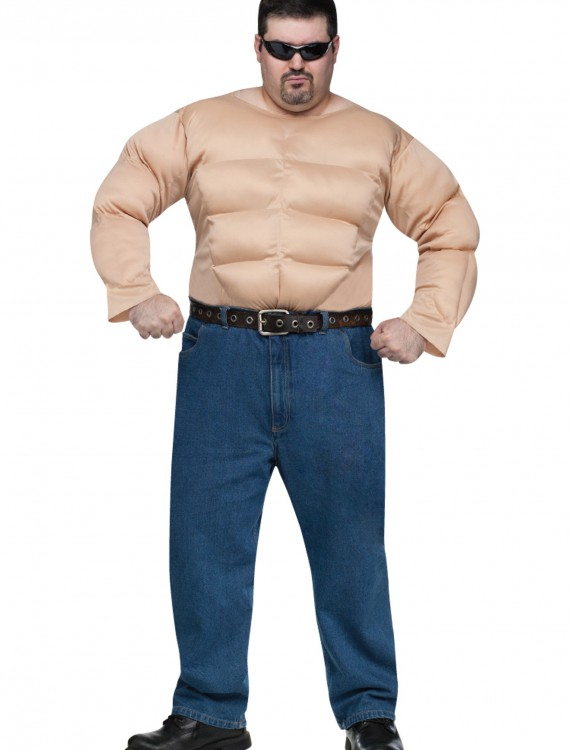 Plus Muscle Chest Shirt, halloween costume (Plus Muscle Chest Shirt)