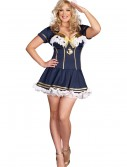 Plus Size Navy Pin Up Sailor Costume, halloween costume (Plus Size Navy Pin Up Sailor Costume)
