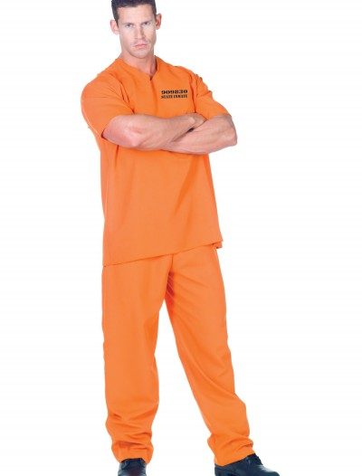 Plus Public Offender Inmate Costume, halloween costume (Plus Public Offender Inmate Costume)