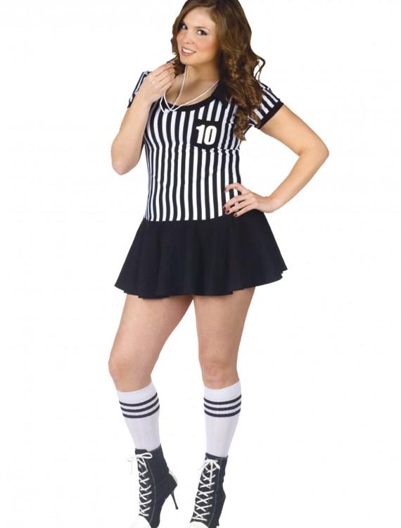 Plus Racy Referee Costume, halloween costume (Plus Racy Referee Costume)