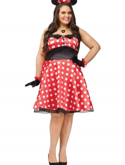 Plus Retro Miss Mouse Costume, halloween costume (Plus Retro Miss Mouse Costume)