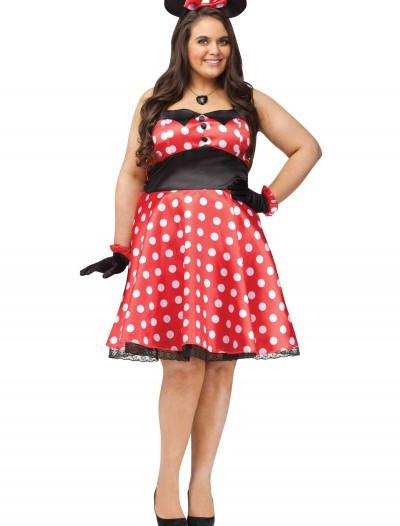 Plus Retro Miss Mouse Costume, halloween costume (Plus Retro Miss Mouse Costume)