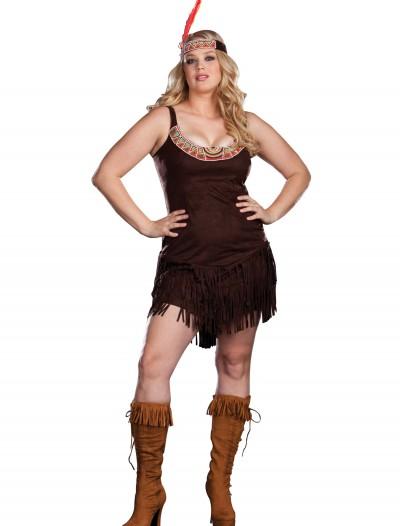 Plus Size Sexy Pocahontas Costume, halloween costume (Plus Size Sexy Pocahontas Costume)