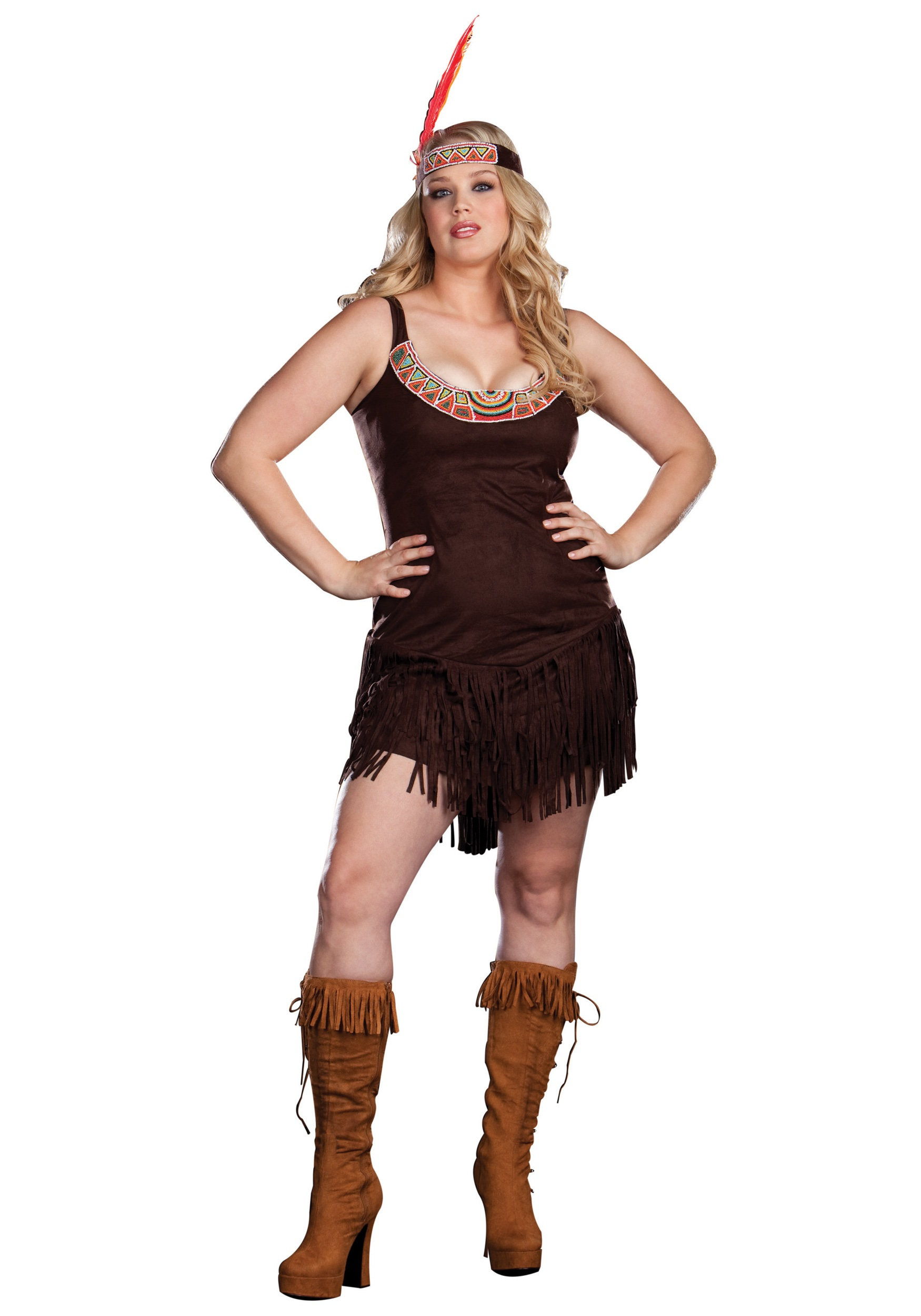 Plus Size Sexy Pocahontas Costume  sc 1 st  Halloween Costumes : pocahontas costume for toddlers  - Germanpascual.Com
