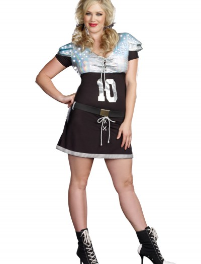 Plus Size Sexy Quarterback Sack Costume, halloween costume (Plus Size Sexy Quarterback Sack Costume)