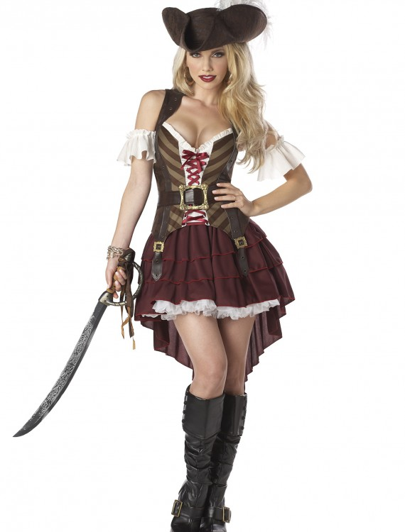 Plus Size Sexy Swashbuckler Captain Costume, halloween costume (Plus Size Sexy Swashbuckler Captain Costume)